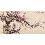中国老子书画院副院长 朱祖义四尺《傲雪迎春》