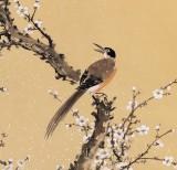 【已售】中国老子书画院副院长 朱祖义四尺《双鹊报喜》