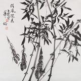 湖南省著名书画家罗华斌 四尺斗方《清风徐来》