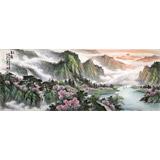 【已售】张慧仁小六尺精品山水画《春韵》