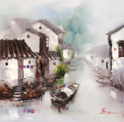 刘燕 《冬韵》 布面油画