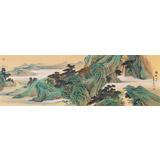 【已售】何实 大尺寸《锦绣山川》中国书画家协会理事