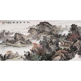 【已售】著名画家蒋元发 四尺山水《秋林雅居图》