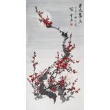 安徽美协何华贤 三尺梅花画《东风裹香》