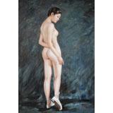 【已售】著名青年油画家朱艺林 布面油画 《舞动的青春》