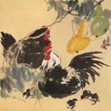 【已售】刘纪 四尺斗方《福禄吉祥》 河南著名老画家