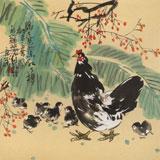 【已售】刘纪 四尺斗方《绿了芭蕉 红了樱桃》 河南著名老画家图片
