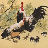 刘纪 四尺斗方《合家亲》 河南著名老画家