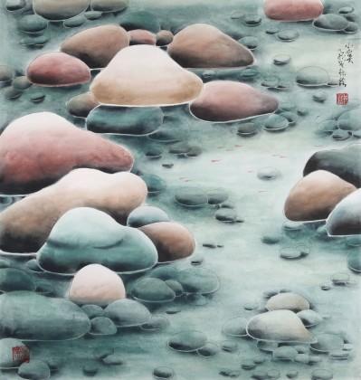 南海禅寺 妙林居士 四尺斗方《小溪》
