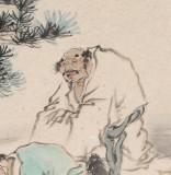 南海禅寺 妙林居士 四尺斗方《天伦之乐》
