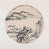 【已售】胡书文 扇面《垂钓图》中国书画院创作院副院长