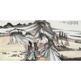 【已售】河南美协胡书文 四尺《秋山观云图》中国书画院创作院副院长