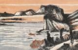 胡书文 四尺对开《秋韵图》中国书画院创作院副院长