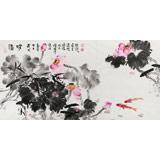 曲逸之 四尺《清和》 中国美术学院著名花鸟画家