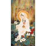 【已售】董书林四尺观音菩萨佛像《观音造像》