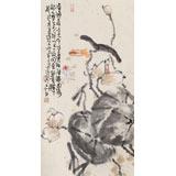 【已售】曲逸之 三尺《香荷图》 中国美术学院著名花鸟画家