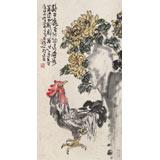 曲逸之 三尺《吉祥如意》 河南省著名花鸟画家