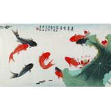 【已售】北京美协凌雪三尺《连年有余》
