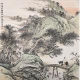 【已售】出版物原作 刘金河四尺斗方《心似浮云自往来》