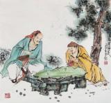 南海禅寺 妙林居士 四尺斗方《品茶论道》