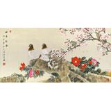 【已售】张洪山 四尺《和平新春》
