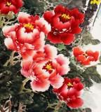 姜康四尺牡丹《富贵迎春》