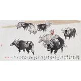 王向阳 四尺国画《短笛横吹隔陇闻》 中国美术家协会会员(询价)
