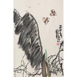 刘纪 四尺三开《秋日》 河南著名老画家