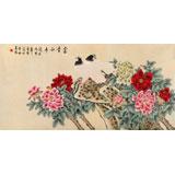 北京美协凌雪四尺《富贵和平》