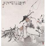 【已售】河北美协郭廷四尺斗方《钓翁图》