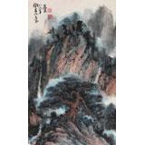 【已售】已故山野派绘画大家邹友蒸《山居图》 1986年作