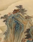 【已售】何实 四尺《大江歌罢棹头东》吉林著名山水画家