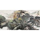 【已售】著名画家蒋元发 四尺山水《山居图》(询价)
