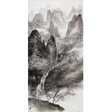 【已售】著名山水画家王连笙 四尺《一夜春雨后 万枝杏花开》
