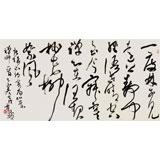 【已售】中书协会员霍威四尺《山景禅师诗一首》