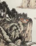 胡书文 四尺《壑沐泉生翠微》中国书画院创作院副院长
