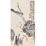 曲逸之 三尺《清荷图》 河南省著名花鸟画家