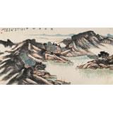 中国书画院创作院副院长胡书文 四尺《万壑清幽图》(询价)