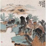 中国书画院创作院副院长胡书文 四尺斗方《湖上春意》(询价)