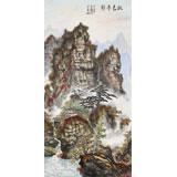 蒲家瑞 三尺《秋色丹彩》 88岁陕西著名老画家
