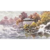 朝鲜画家范青 四尺《莲光亭的早晨》