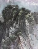 朝鲜名家韩银星 四尺《望美亭的夜晚》