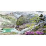 朝鲜人民艺术家 明时焕六尺《金刚山之春》(询价)