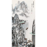 北京美协张春奇 四尺《百里漓江秀》(询价)