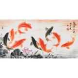 中国画院周升达 三尺《富贵久鱼》(询价)