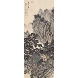 贵州七星关美协主席吴显刚 四尺对开《溪山草堂图》