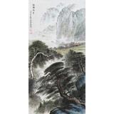 【已售】湖南省著名山水老画家唐圣熙 四尺《江南水乡》