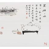 中国美协会员赵英旭 三尺斗方《茶禅一味》