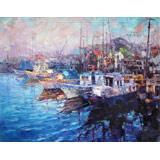 【已售】郭莹 《海滨》北京著名女油画家