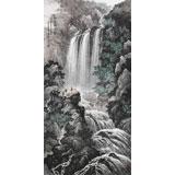 【已售】中国书画家协会理事李碧峰 四尺《红溪飞瀑图》